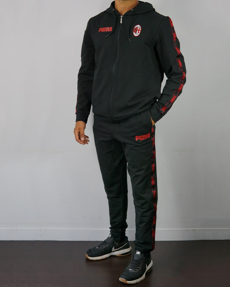Ac Milan Puma Tuta sportiva tempo libero Tracksuit 2020 21 UOMO Nero Cotone 0