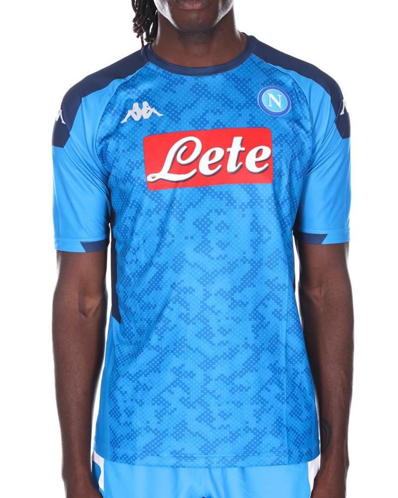 SSC Napoli kappa Kombat Euro Maglia Calcio football shirt Uomo Azzurro 2019 20 0