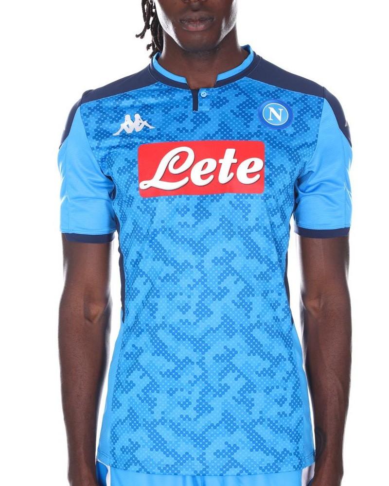 SSC Napoli Kappa Kombat Pro Euro Maglia Shirt Match Uomo Azzurro 2019 20 Home 0