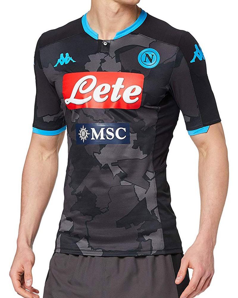 SSC Napoli Kappa Maglia Shirt Match UOMO 2020 Carbon 91% poliestere 9% elastam. 0