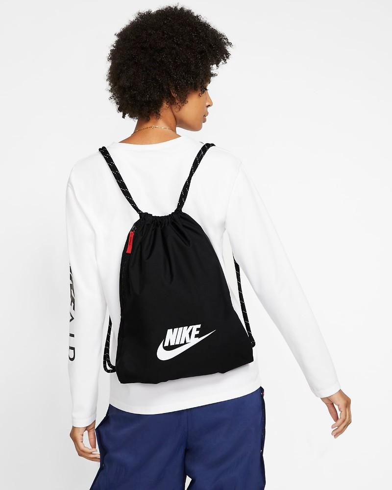 Heritage 2.0 Sportswear Nike Sacca Rucksack Gymsack Borsa Unisex Nero 2020 21 0