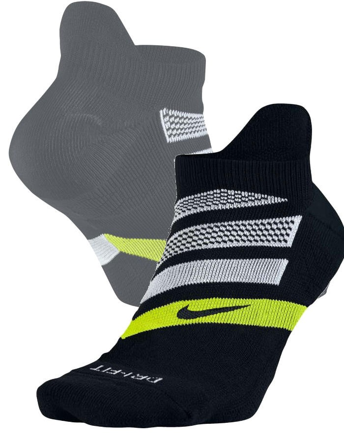 Dry Cushion Dynamic Arch No-Show Running Nike calze Calzini socks Unisex Nero 0