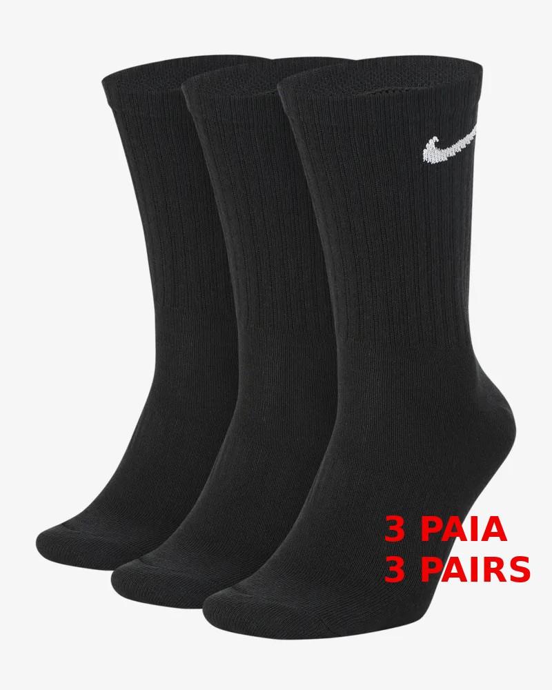 Everyday Nike Calze Calzini Calzettoni Socks Unisex Nero cotone 0