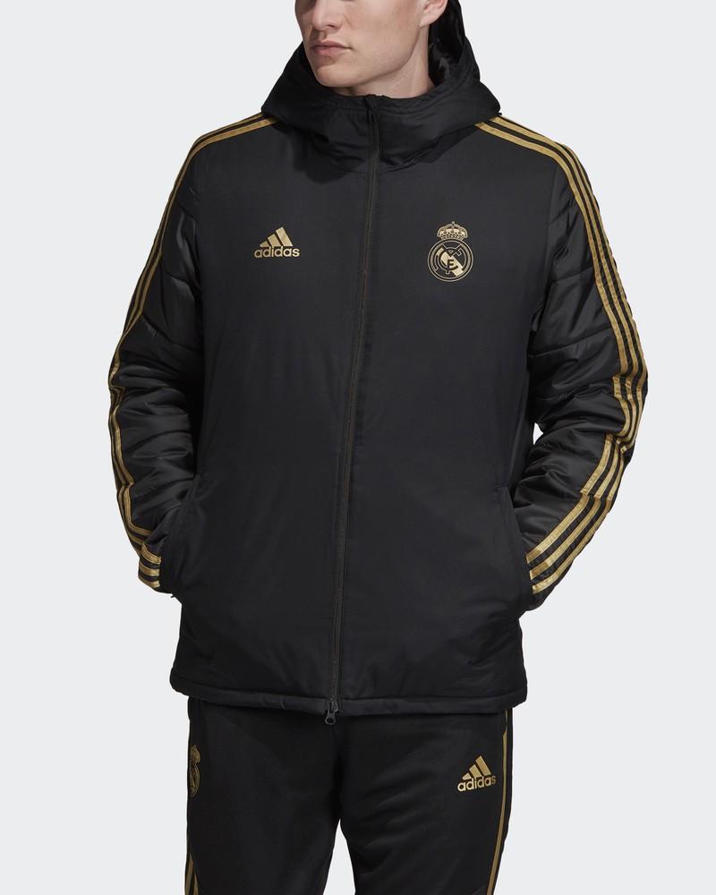 Real Madrid Adidas Bomber Piumino Giubbotto Winter jacket Nero 2019 20 0