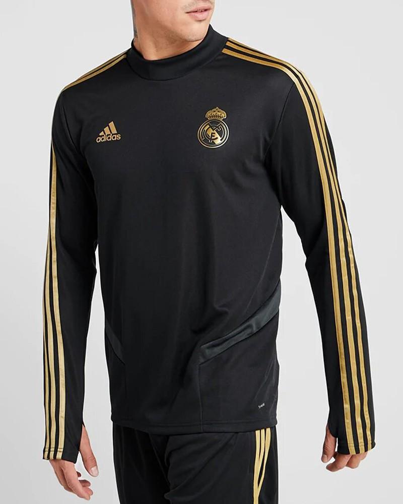 Real Madrid Adidas Felpa Allenamento Training Top Nero Uomo 2019 20 0