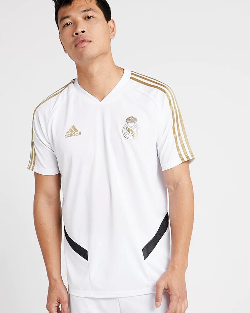 Real Madrid Adidas Maglia Allenamento Training Uomo Bianco Climacool 2019 20 0