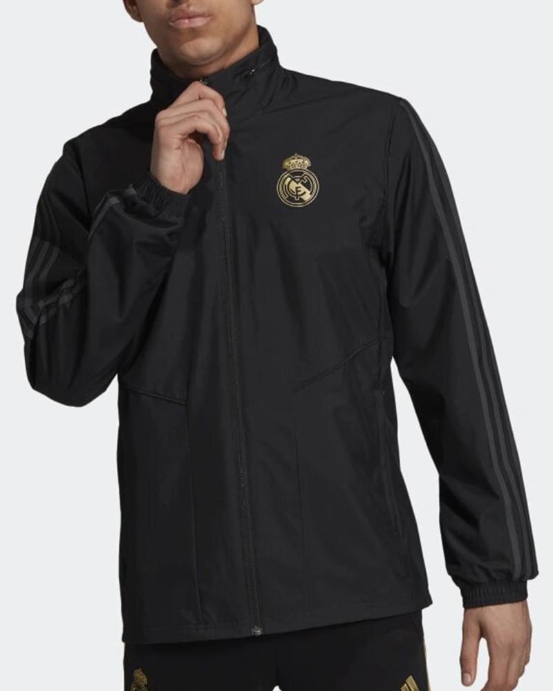 Real Madrid Adidas Giacca anti Vento Pioggia All weather Nero 2019 20 0