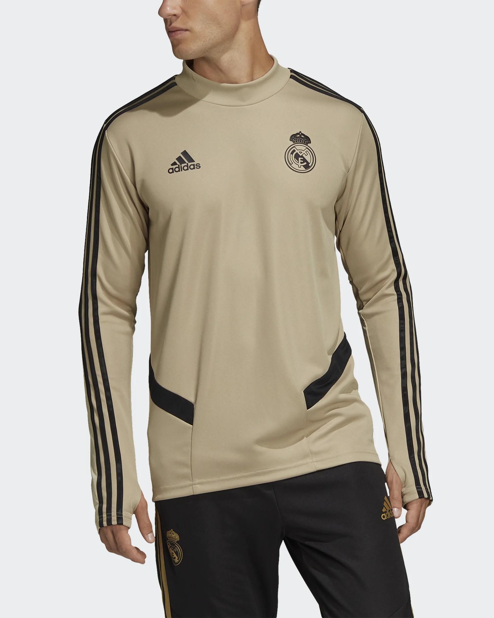 Real Madrid Adidas Felpa Allenamento Training Sweatshirt 2020 Beige Uomo 0