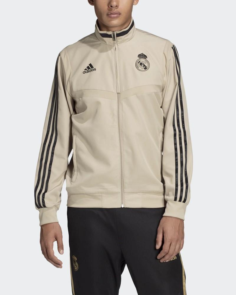 Real Madrid Adidas Giacca Tuta Rappresentanza Jacket Presentation Uomo Beige 0