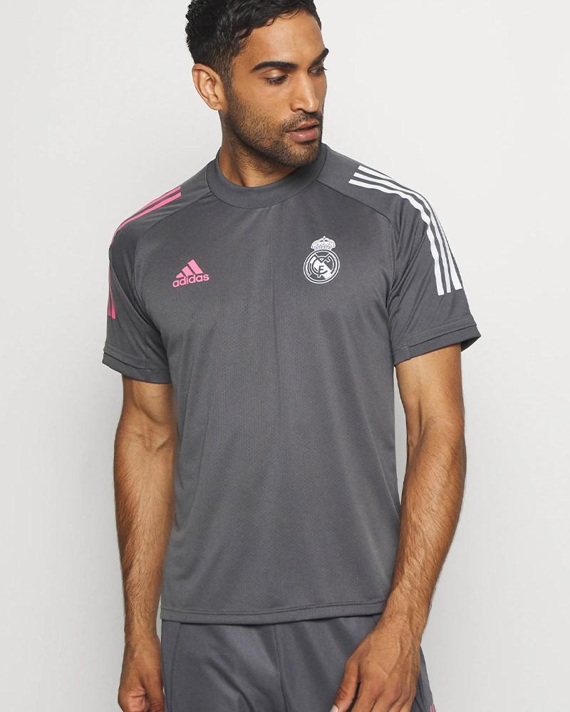 Real Madrid Adidas Maglia Allenamento Training Grigio 2020 21 UOMO AEROREADY 0