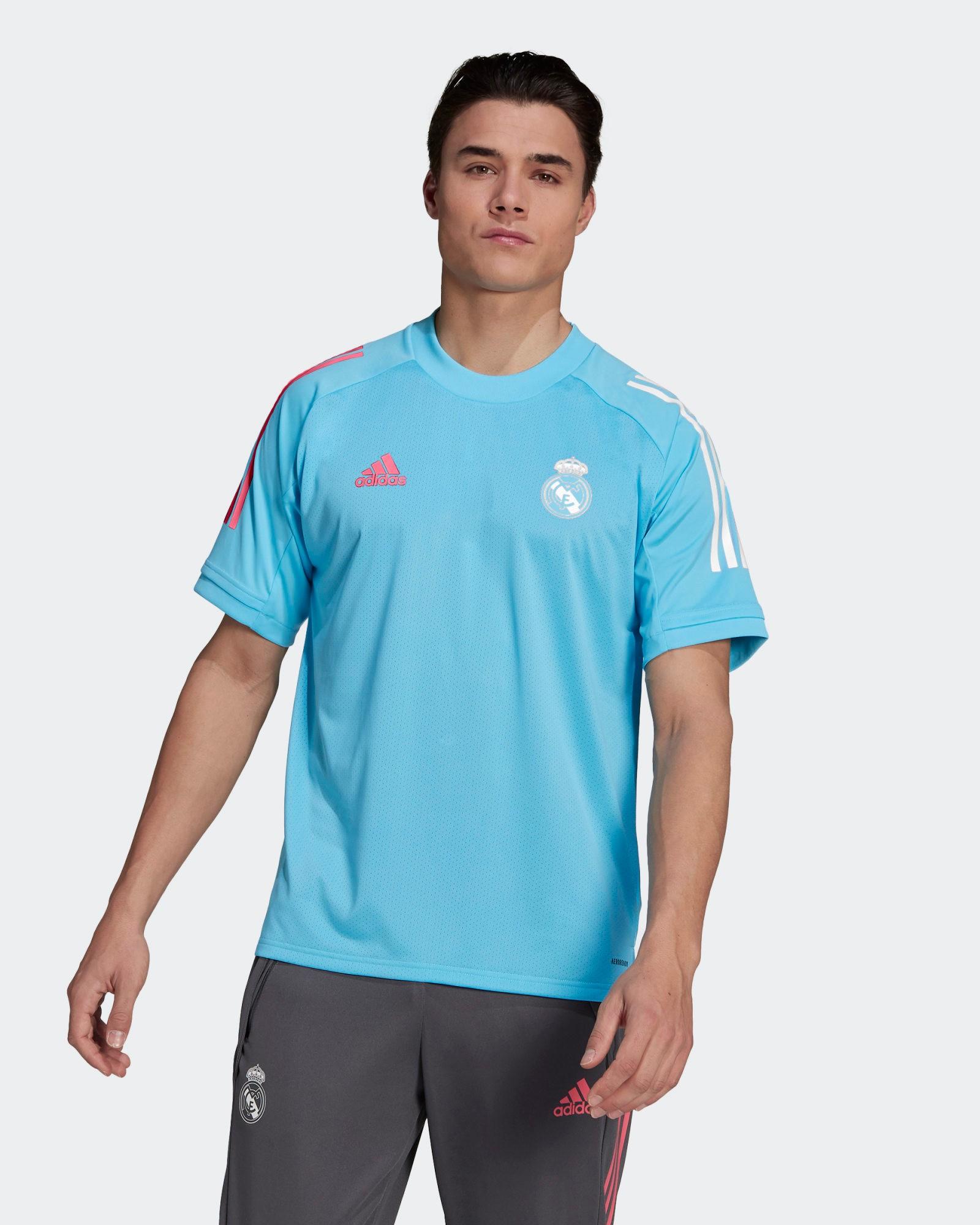 Real Madrid Adidas Maglia Allenamento Training UOMO Celeste AEROREADY 2021 0