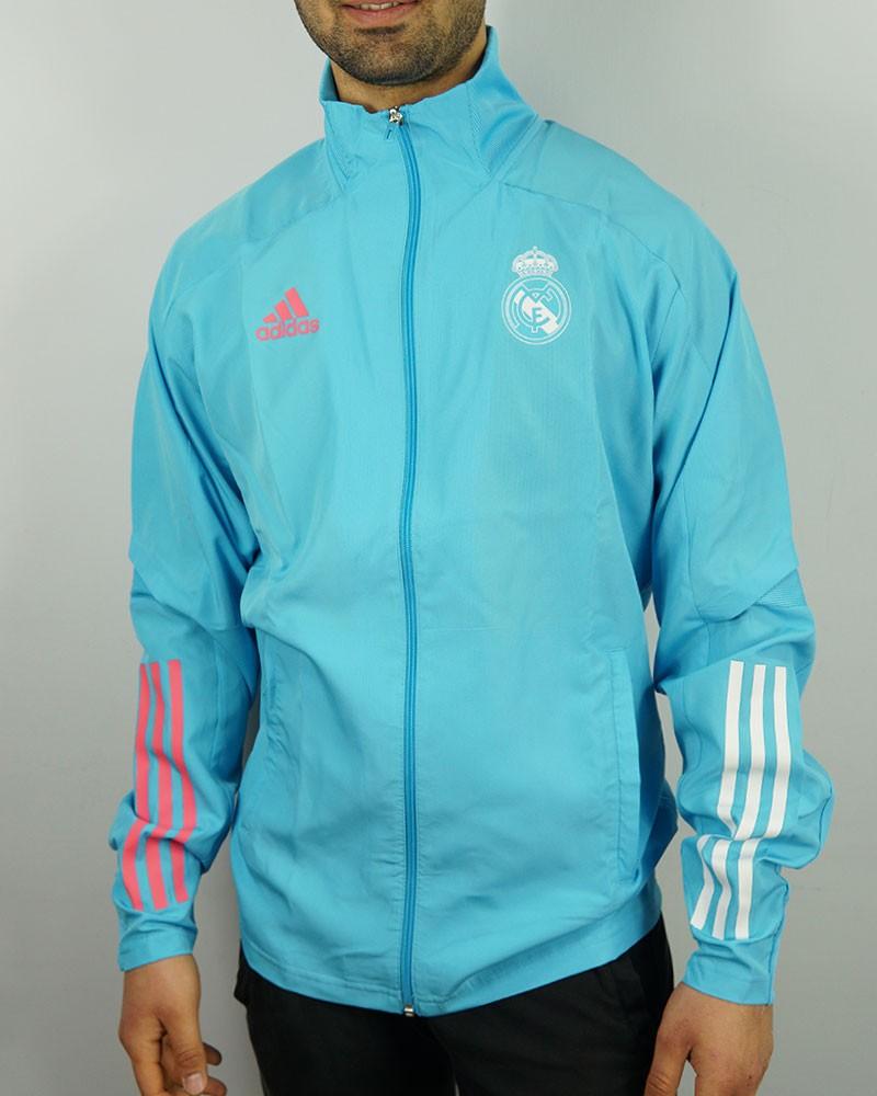 Real Madrid Adidas Giacca Tuta 2020 21 Presentation UOMO azzurro 0