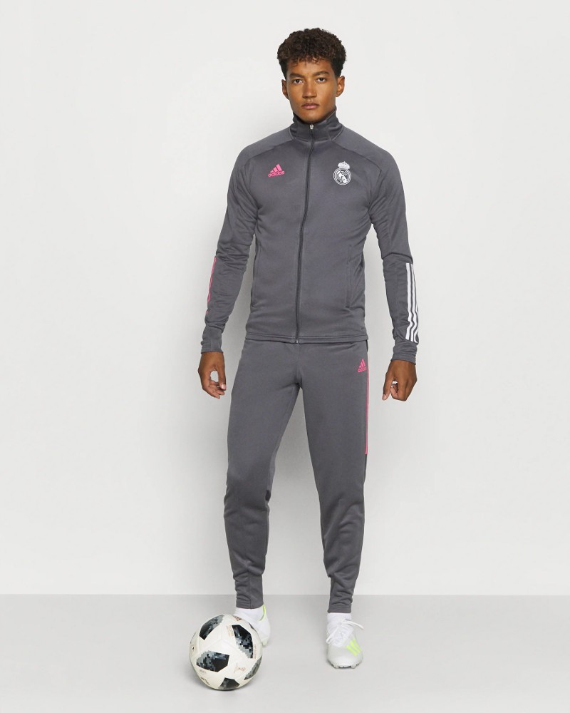 Real Madrid Adidas Tuta Allenamento Training 2020 21 UOMO con TASCHE a ZIP 0