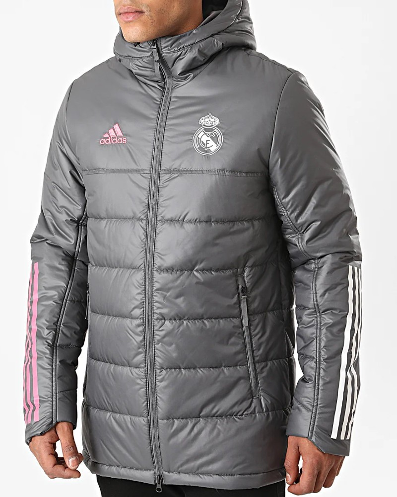 Real Madrid Adidas Bomber Piumino Giubbotto UOMO Grigio 2020 21 Winter 0