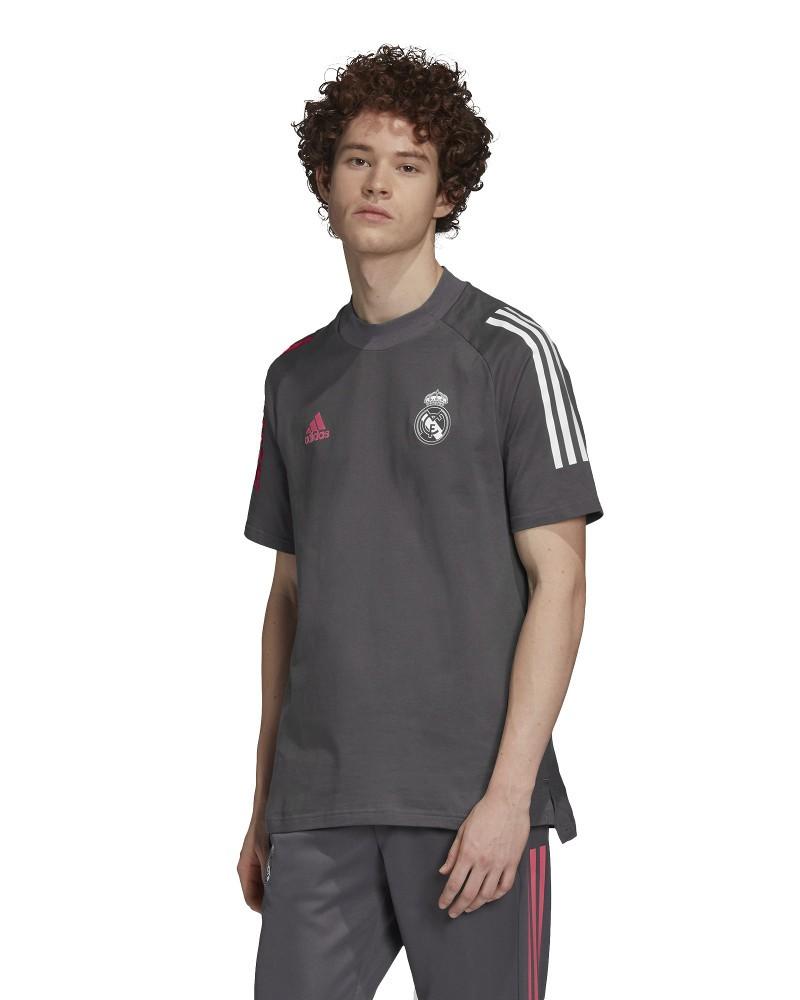 Real Madrid Adidas Maglia Allenamento Training Grigio Tee 2020 21 0
