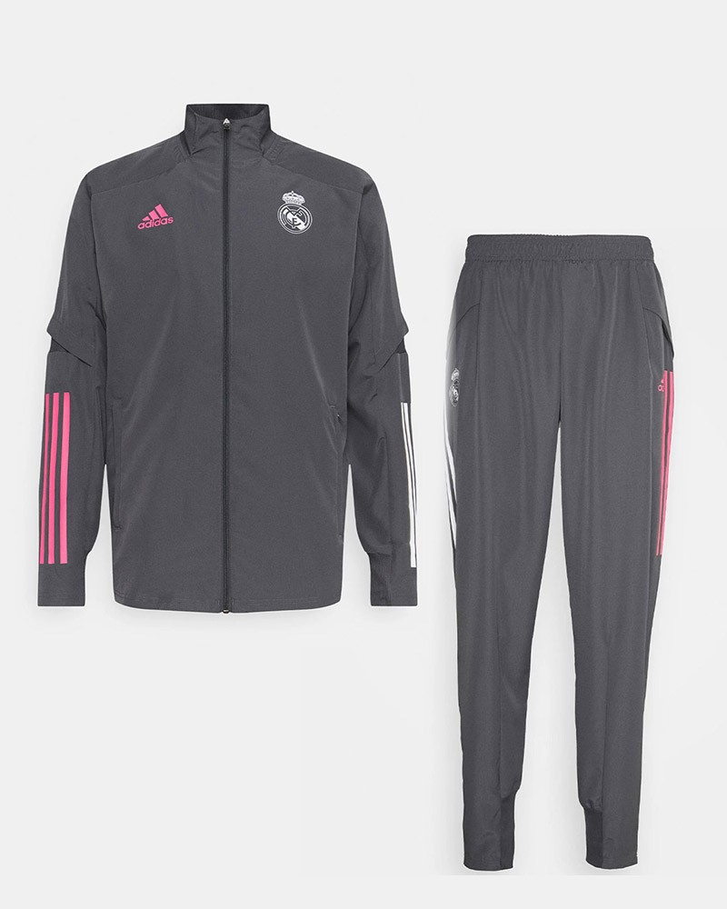 Real Madrid Adidas Tuta Rappresentanza UOMO Grigio 2020 2021 Presentation 0