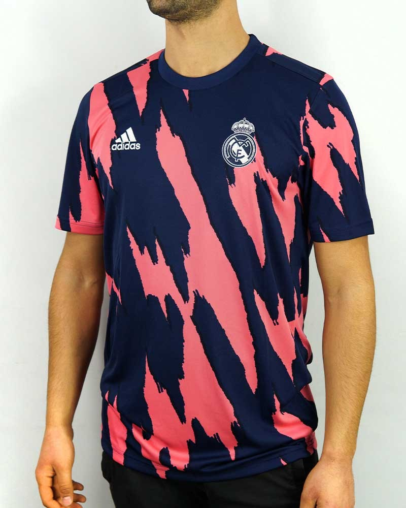 Real Madrid Adidas Maglia Allenamento Training UOMO Blue AEROREADY 2020 21 0
