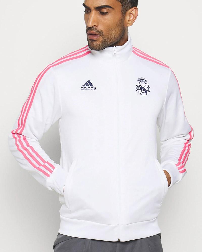 Real Madrid Adidas Giacca tuta sportiva 2020 21 Bianco Track Top 3 Stripes 0