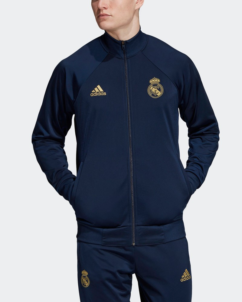 Real Madrid Adidas Giacca Sportiva Jacket Blu Licensed Icons 2019 20 0