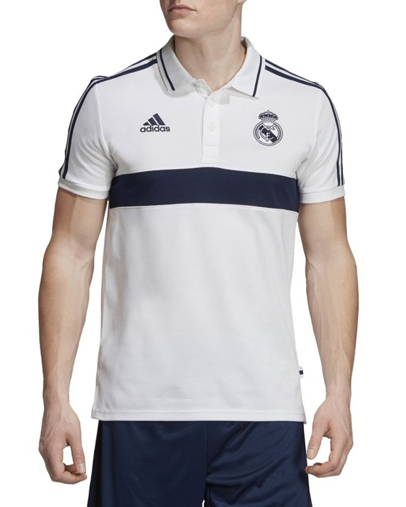 Real Madrid Adidas Polo Maglia Cotone Bianco 2019 20 Cotone 0