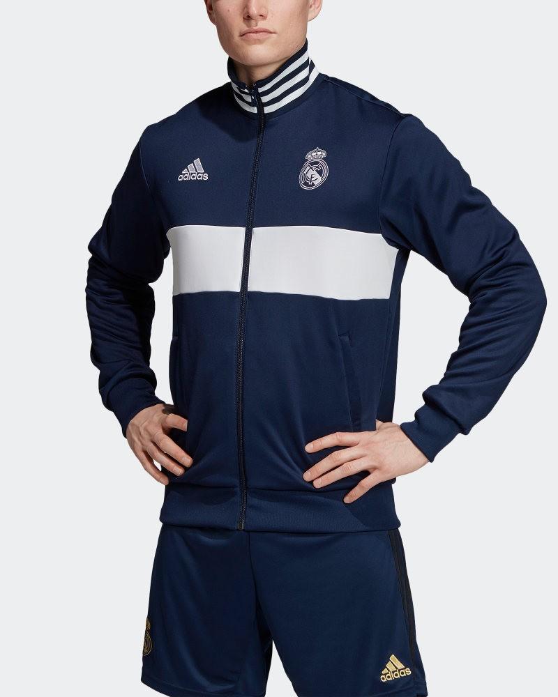 Real Madrid Adidas Giacca Tuta Sportiva Jacket Track Top 3 Stripes Uomo 2019 20 0