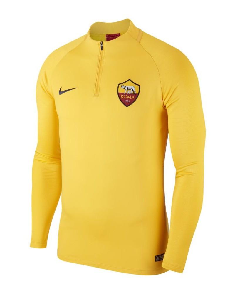 As Roma Nike Drill top Felpa Allenamento Training Sweatshirt Uomo 2020 Giallo 0