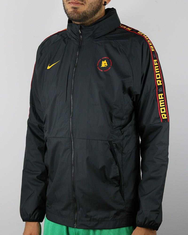 As Roma Nike Giacca anti Vento Pioggia 2020 21 UOMO Nero 0