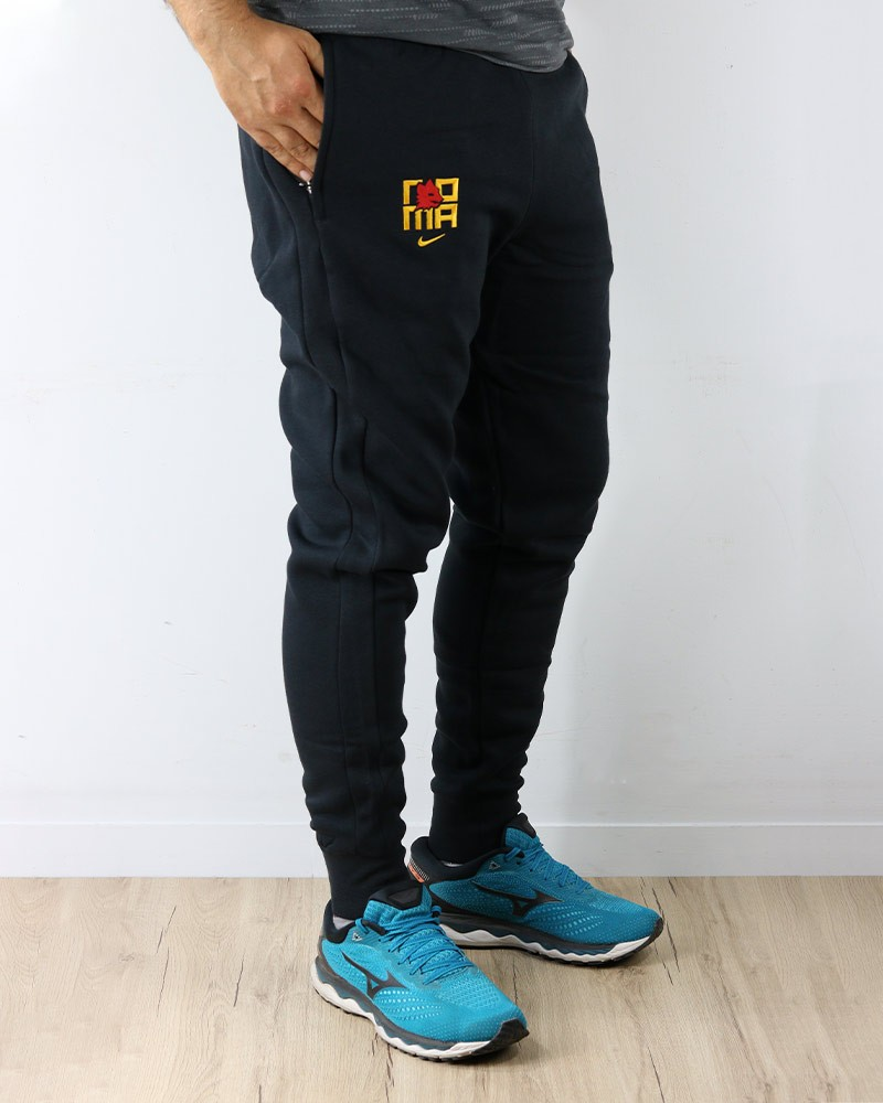 As Roma Nike Pantaloni tuta Pants 2020 21 Fleece Sweat Cuff Nero Cotone 0