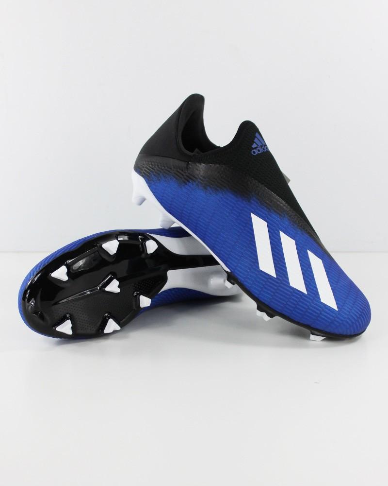 Adidas Scarpe Calcio Football X 19.3 Laceless FG Senza lacci SemiPro Blu 0