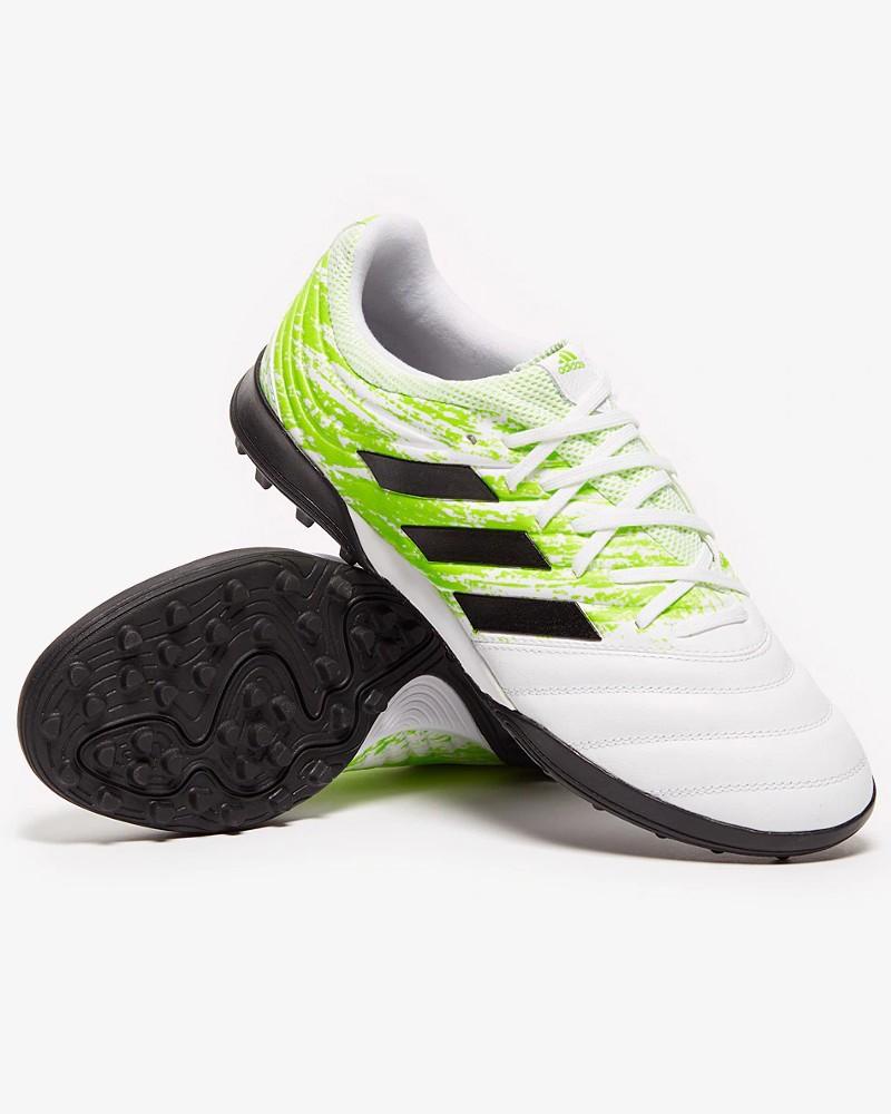 Adidas Scarpe Calcio Calcetto Football Copa 20.3 Turf UOMO Bianco Vera Pelle 0