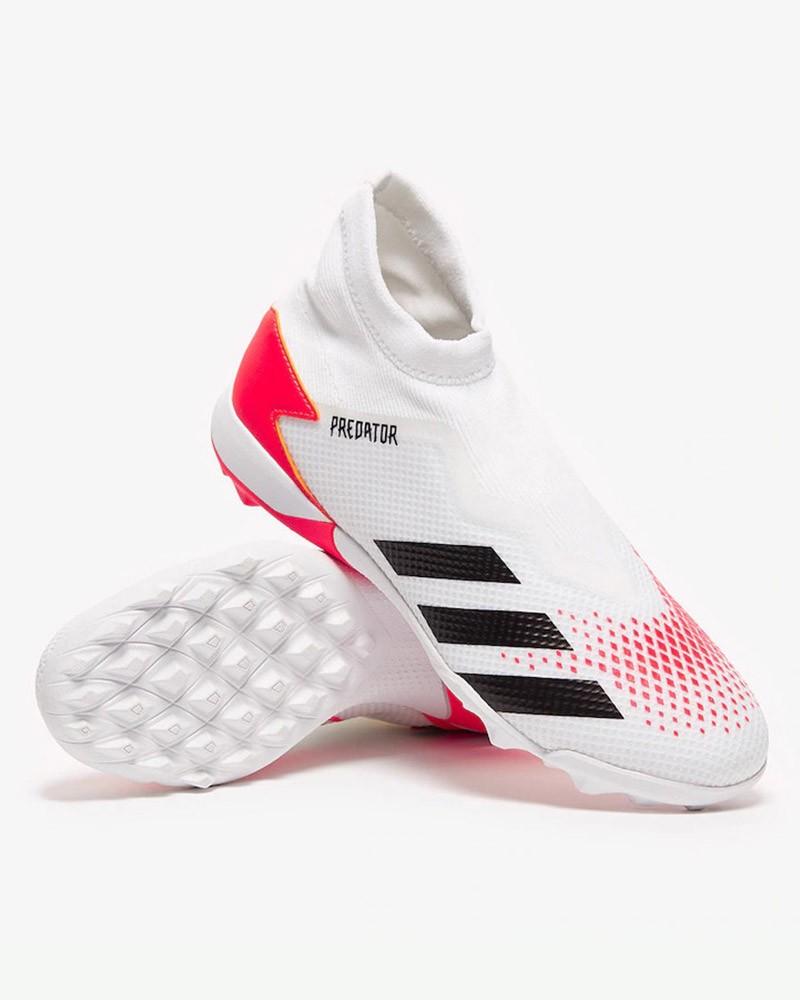 Adidas Scarpe Calcio Calcetto Football Predator 20.3 Laceless Turf Bianco 0