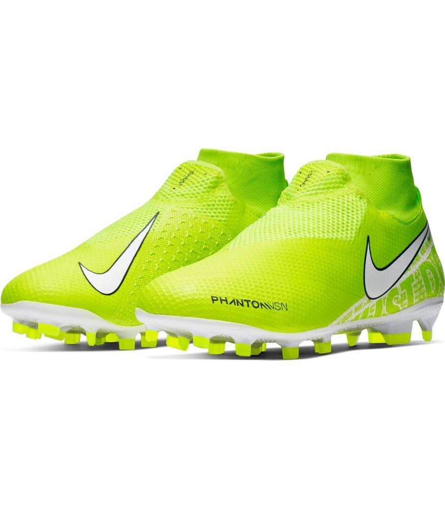 Nike Scarpe Calcio Football Hypervenom Vision Pro DF FG Uomo Giallo Fluo 0