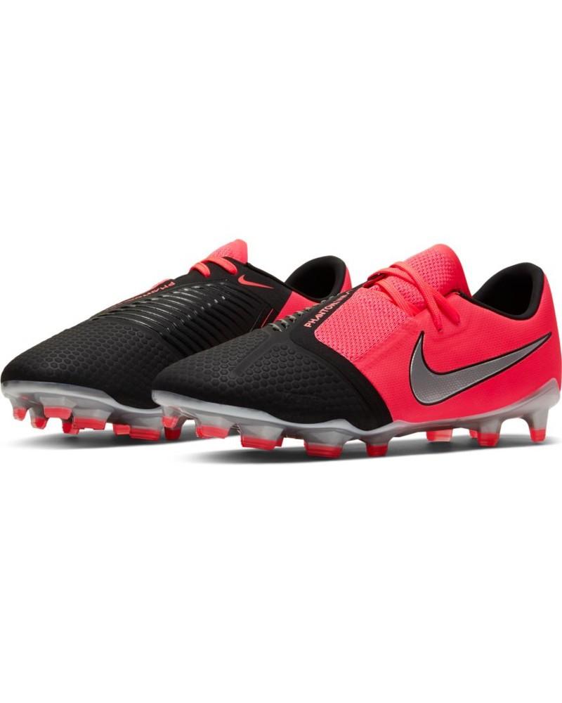 Nike Scarpe Calcio Football Hypervenom Phantom venom pro fg Uomo Nero Rosso 0