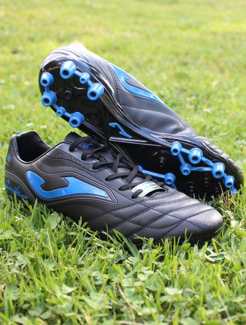 Joma Scarpe Calcio Football Aguila 805 AG Nero Blu Artificial Grass 0