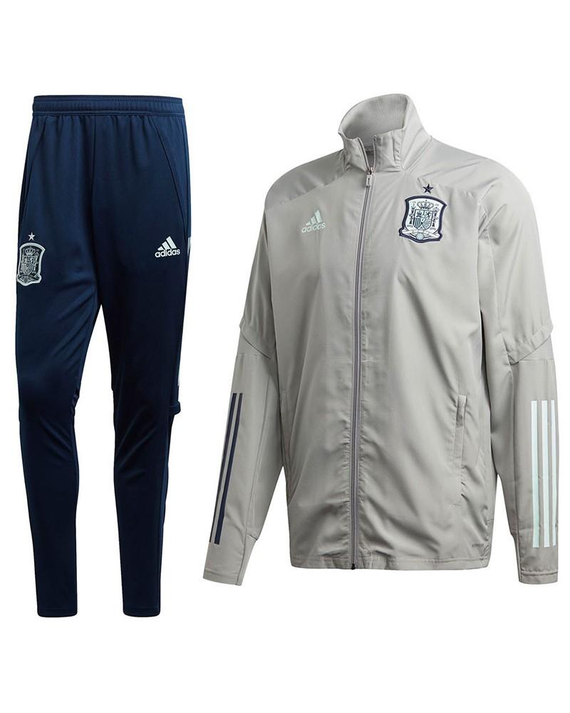 Spagna Spain Espana Adidas Tuta Rappresentanza Blu grigio EURO 2020