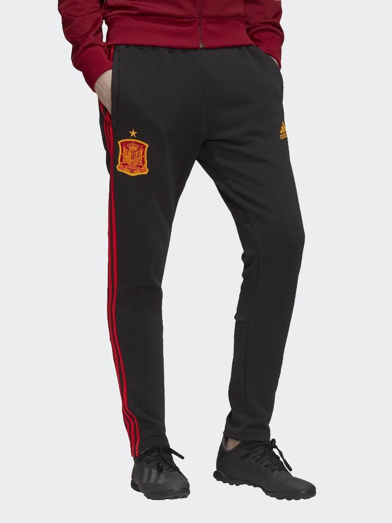 Spagna Spain Espana Adidas Pantaloni tuta Pants Euro 2021 3 Stripes Nero Cotone 0